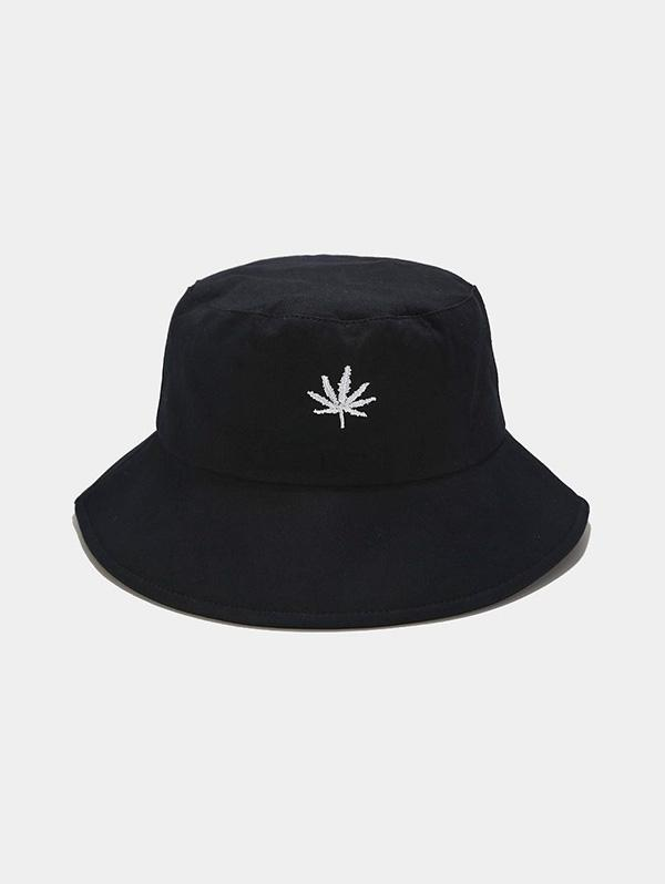 Maple Leaf Embroidered Bucket Hat