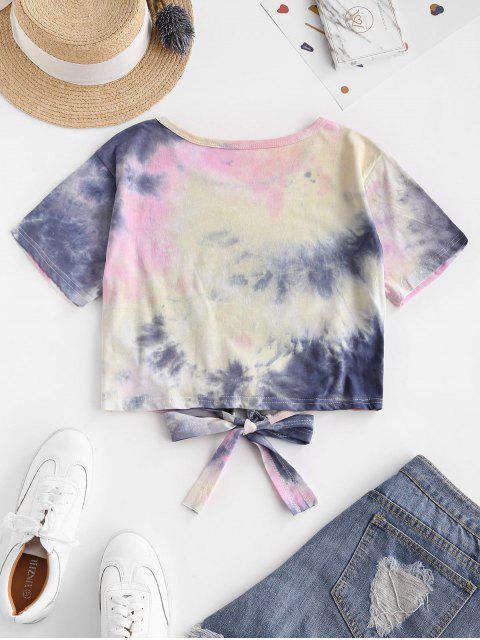 online Colorful Tie Dye Tie Hem Tee - MULTI-C M Mobile