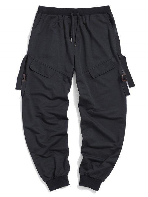 ZAFUL Pantalones de Carga con Bolsillo y Estampado de Letras - Negro 2XL Mobile