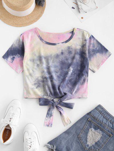 T-shirtTeintéColoré à Ourlet Noué - Multi-c S