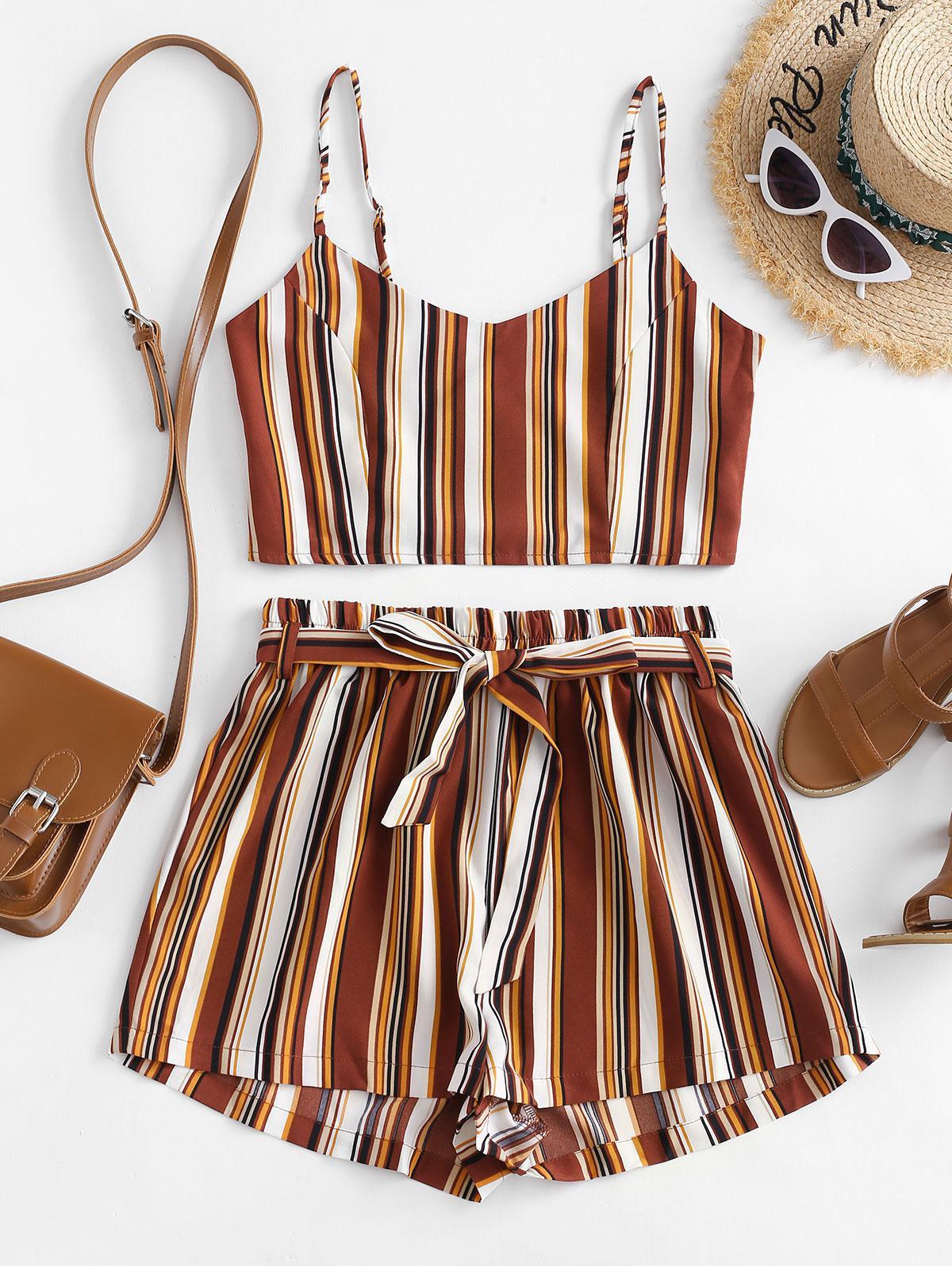 Striped Smocked Co Ord Set