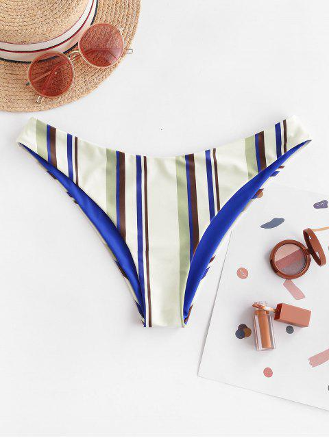 ZAFUL Listrado Reversível Calcinhas de Biquíni - Azul de Mirtilo  L Mobile