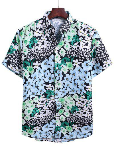 Floral Allover Print Vacation Shirt - Multi-c 3xl