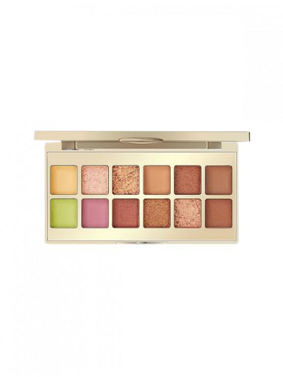 hot 12 Color Foggy Sparkling Eyeshadow Palette - #002