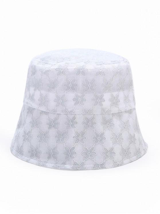 women Lace Floral Sun Hat - LIGHT BLUE