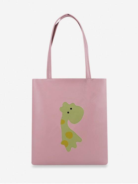 fashion Cartoon Giraffe Pattern Tote Bag - LIGHT PINK