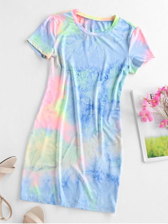 ZAFUL Tie Dye Bodycon rochie mini - Multi-A L