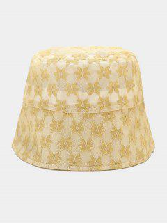 Lace Floral Sun Hat - Yellow