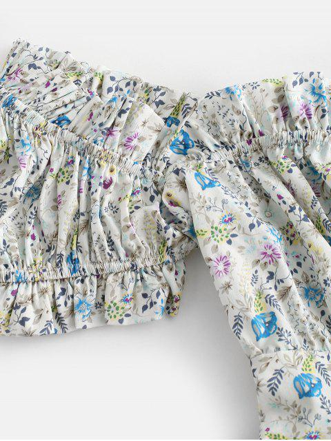 Vestido Ditsy Impressão Floral Mangas Compridas Vestido Ditsy - Multi-A M Mobile