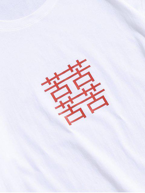 T-shirt de Impressão Chinês - Branco M Mobile
