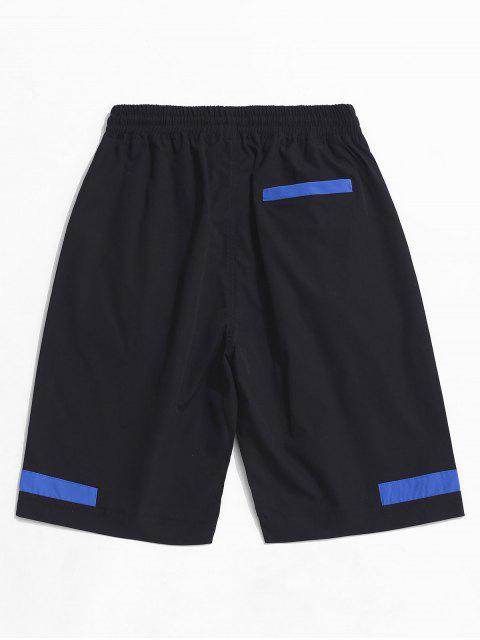 マルチポケット色スプライスカーゴショーツ - ブラック XL Mobile