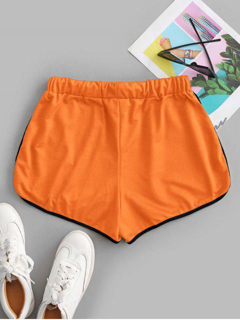 hot Drawstring Running Shorts - ORANGE S Mobile