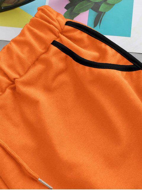 fancy Drawstring Running Shorts - ORANGE L Mobile
