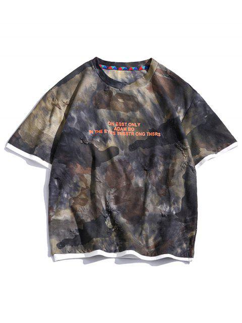 T-shirt Especial de Emagrecimento Gráfico de Mangas Curtas para Homens - Multi-B 3XL Mobile