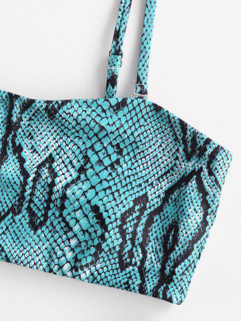 ZAFUL Bikini Bandeau Léopard Serpent Imprimé - Multi-C M Mobile