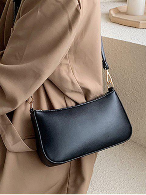 outfits Solid Rectangle Shoulder Bag - BLACK  Mobile