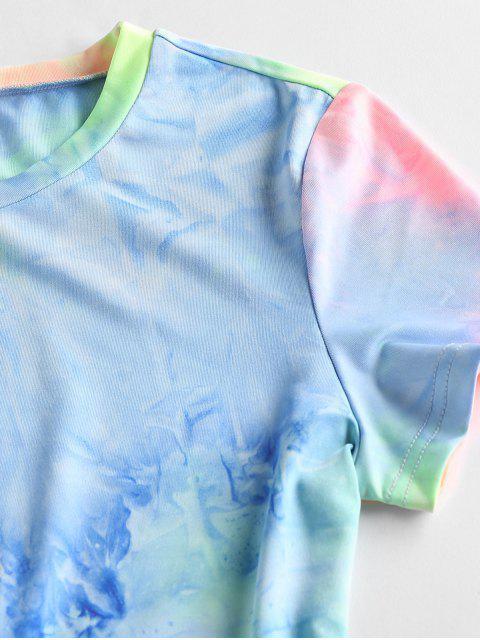 online ZAFUL Tie Dye Bodycon Mini Dress - MULTI-A XL Mobile