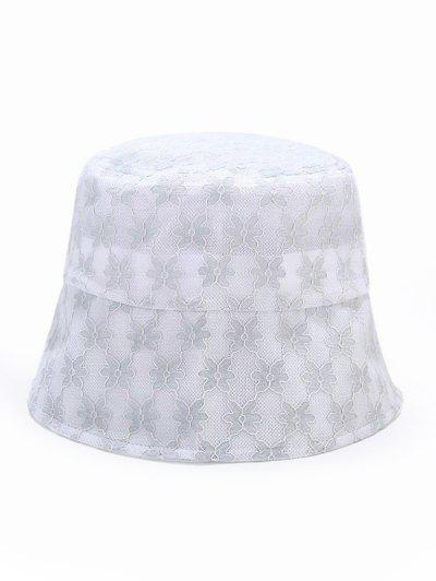 Lace Floral Sun Hat - Light Blue