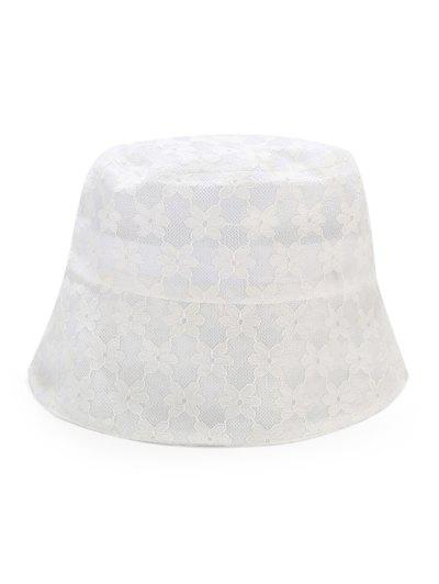 Lace Floral Sun Hat - White