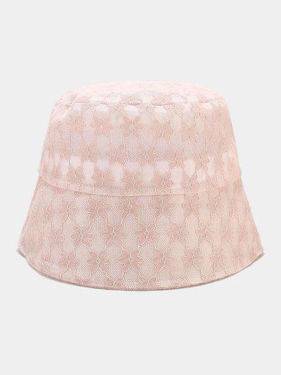 Lace Floral Sun Hat - Pink