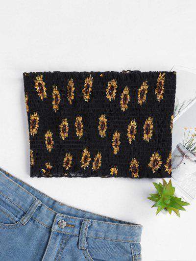 Sunflower Smocked Strapless Top