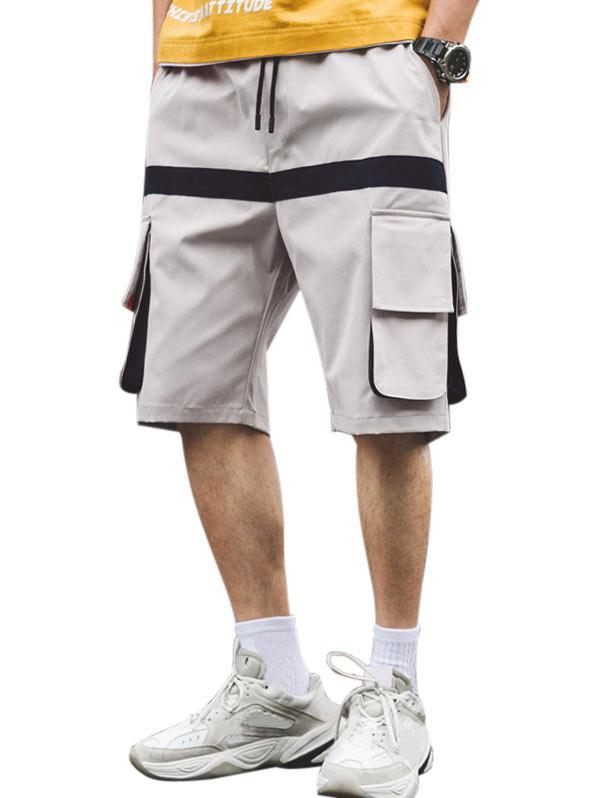 Zaful Letter Pattern Pocket Shorts