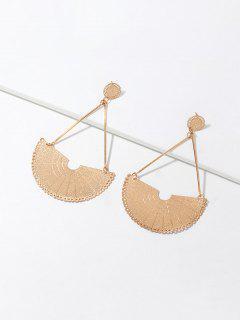 Fan Shape Alloy Drop Earrings - Gold