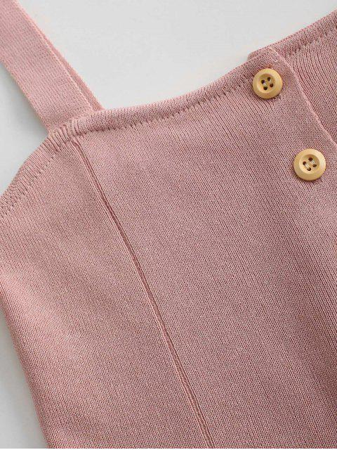 Regata Tricotada com Fecho de Botão - Cor Marrom Rosado Um Tamanho Mobile