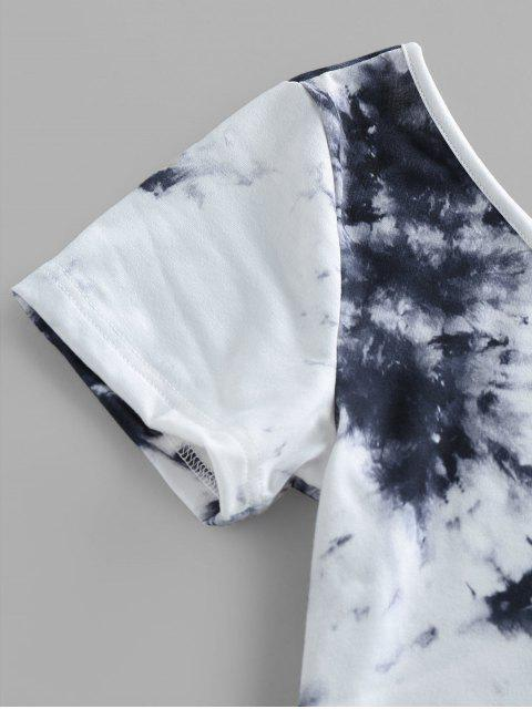 new ZAFUL Tie Dye One Shoulder Crop T-shirt - MULTI M Mobile