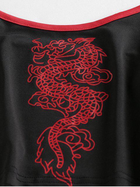 Ringer T-Shirt con Fiocco di ZAFUL - Multi Colori-B XL Mobile