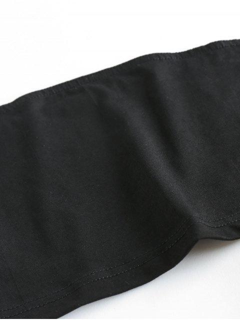 Camicetta Senza Spalline e Pantaloncini Larghi con Stampa a Girasole di ZAFUL - Nero S Mobile