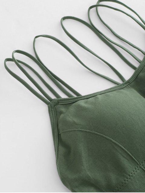 Top Bralette com Tiras - Verde de Fern  Um Tamanho Mobile