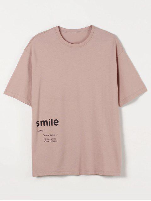 Smile Cat Paint Graphic T Shirt - زهري 2XL Mobile