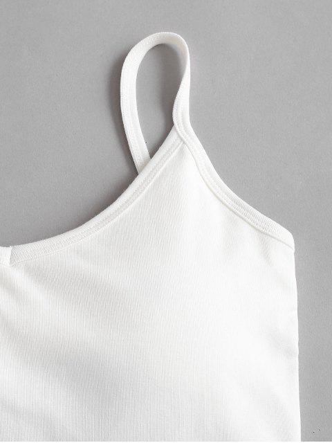 Top Cami Barriga de Fora Acolchoado Cortado - Branco Um Tamanho Mobile