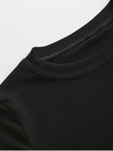 chic Basic Cutout Tee - BLACK ONE SIZE Mobile