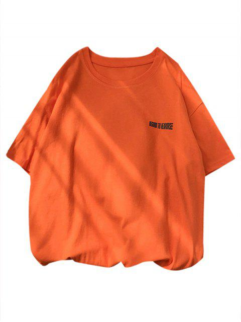 lady Pig Graphic Short Sleeve Lounge T Shirt - PUMPKIN ORANGE S Mobile