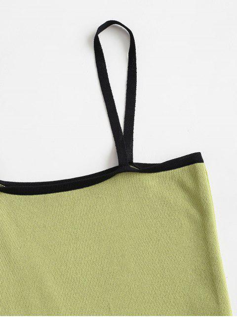 Haut Maigre Tricoté à Bretelle - Vert Taille Unique Mobile