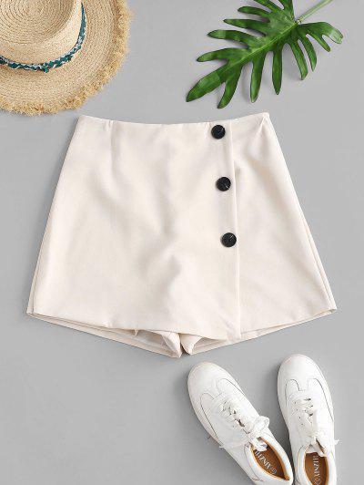 Shorts de Cintura Alta con Detalle Escotado