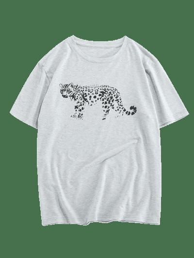 ZAFUL Leopard Pattern Short Sleeves T-shirt