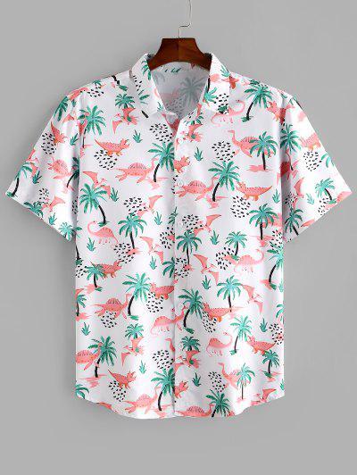 Camisa De Praia Com Impresso De árvore - Multi L