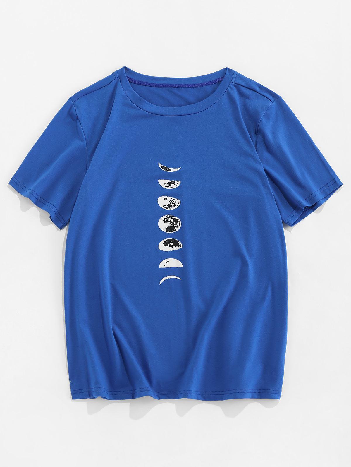 Moon Printed Short Sleeves T-shirt thumbnail