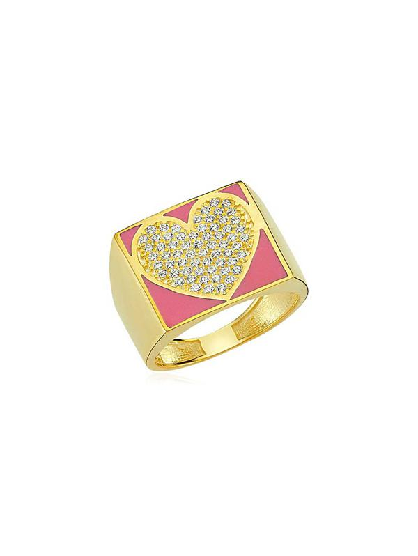 Heart Micro Pave Rhinestone Ring