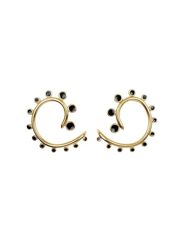 Dots Embellished Spiral Stud Earrings