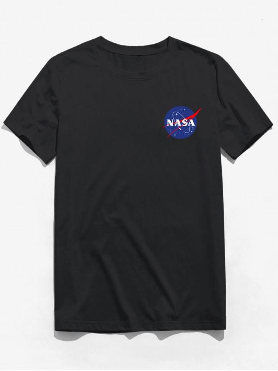 fashion ZAFUL Letter Printed Short Sleeves T-shirt - BLACK 2XL