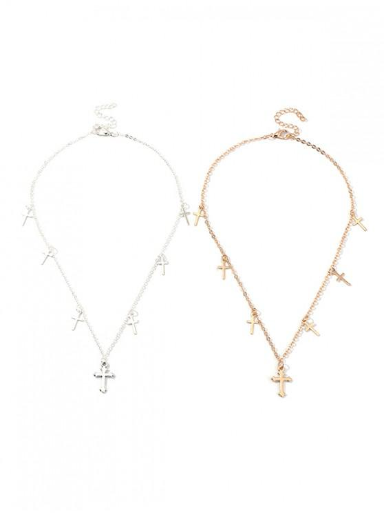 online Cross Pendant Chain Necklace Set - MULTI-A