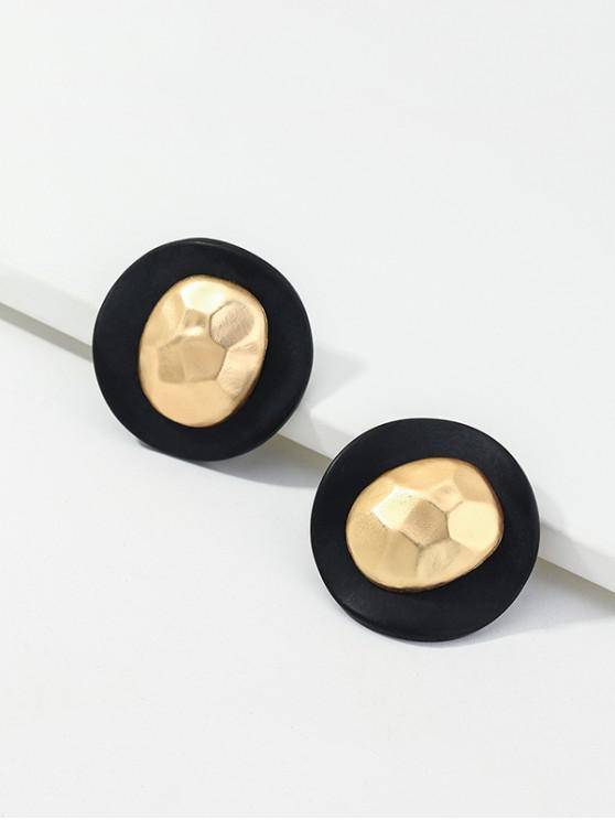 lady Retro Alloy Irregular Geometric Earrings - GOLD