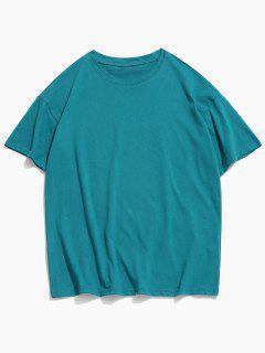 T-shirt Clássico De Impressão De Colar Redondo - Oceano Azul 3xl