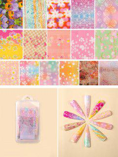 Flowers Pattern Nail Beauty Transfer Papers Set - #007