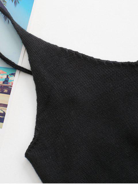 Top Cami Knit - Preto Um Tamanho Mobile