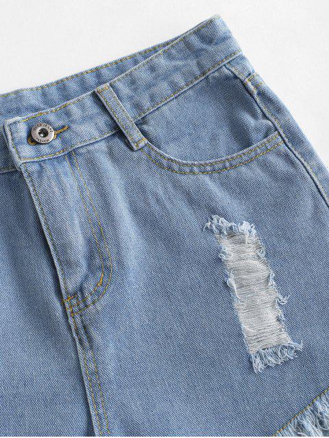 Mini Shorts Desgarrado - Azul claro S Mobile